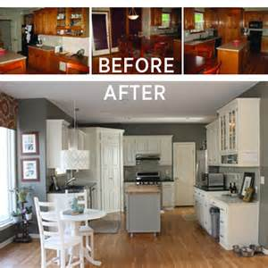 Diy Kitchen Makeover On A Budget - budget kitchen makeovers on pinterest refurbished