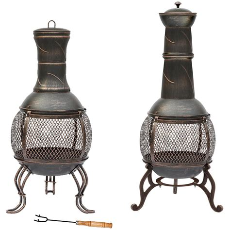 Discount Patio Heaters by Steel Chiminea Pit Outdoor Garden Patio Heater Bbq