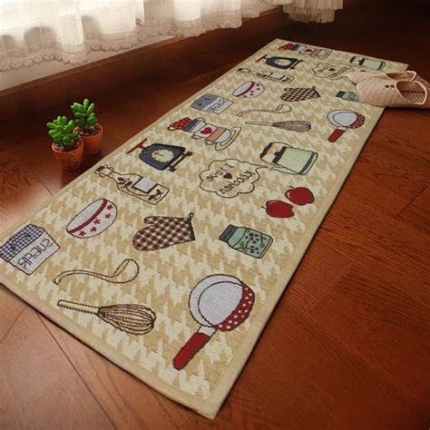 Washable Kitchen Rug Runners Jacquard Non Slip Rug Kitchen Bedroom Floor Mats Hallway Carpet Runner Washable Ebay