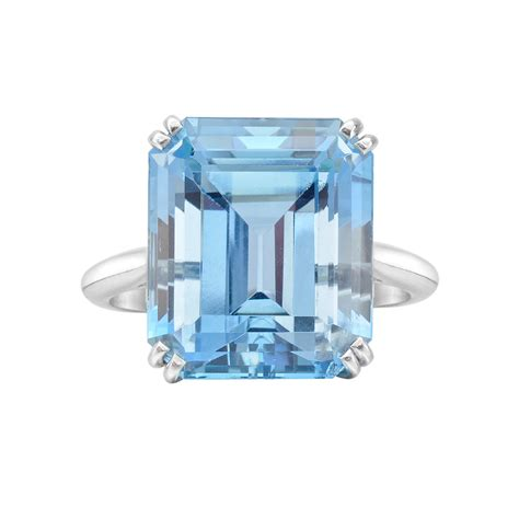 Harry Winstons Colored Rings Which One Would You Choose by Estate Harry Winston 12 13 Carat Aquamarine Cocktail Ring