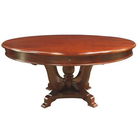 mahogany dining bench regency round dining table in mahogany with 4 drawers