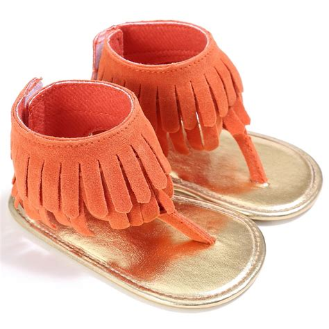 baby summer shoes baby tassel sandal summer shoes anti slip soft sole