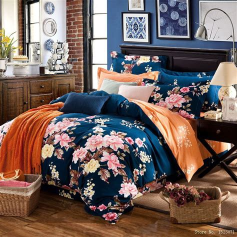 boho bedding sets fashion 4pcs floral country boho bedding princess pink