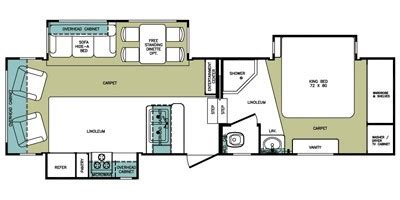 cardinal 5th wheel floor plans 2008 cardinal by forest river limited edition fifth wheel