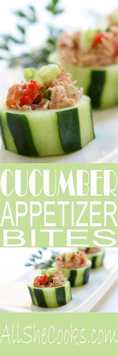 spicy tuna cucumber cup appetizers