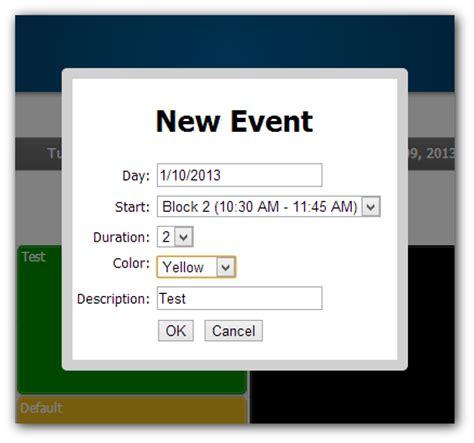 design calendar in vb net timetable tutorial asp net c vb net daypilot code
