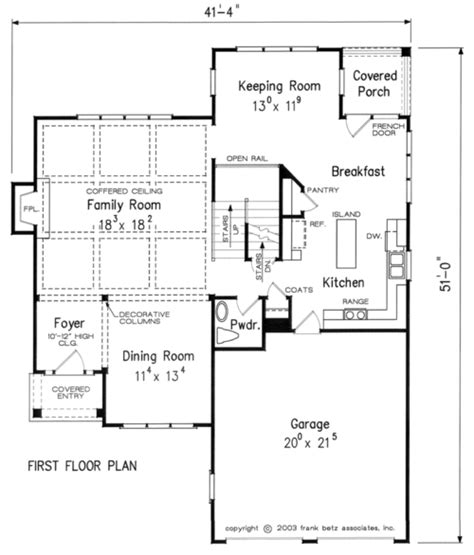 Frank Betz Floor Plans by Millstone Cottage Home Plans And House Plans By Frank