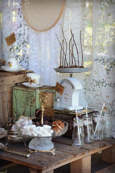 rustic baby shower centerpieces rustic lace baby shower