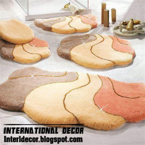 bathroom rug set model