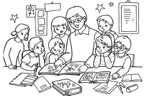 coloring pages of a school classroom classroom education beats