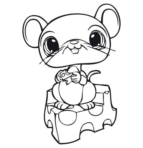 cute mice pages coloring pages