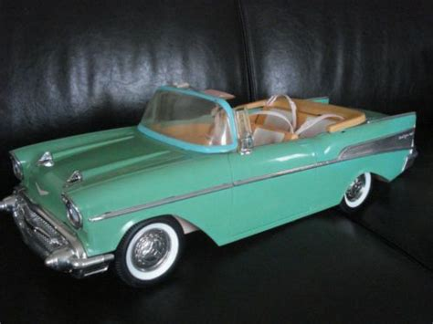 barbie 57 chevy vtg barbie 57 chevy chevrolet turquoise doll car toy 1957