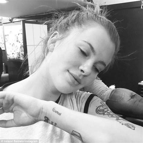 ireland baldwin gets a new squirrel tattoo honouring her