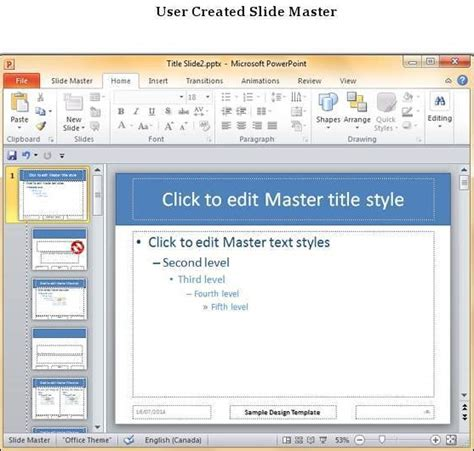 Save Design Template In Powerpoint 2010 Powerpoint Master Template