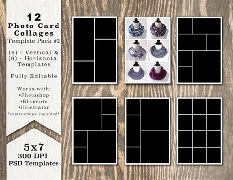 Free Card Templates For Photoshop Elements 11 by 43 Best Digital Photo Template Packs Images On