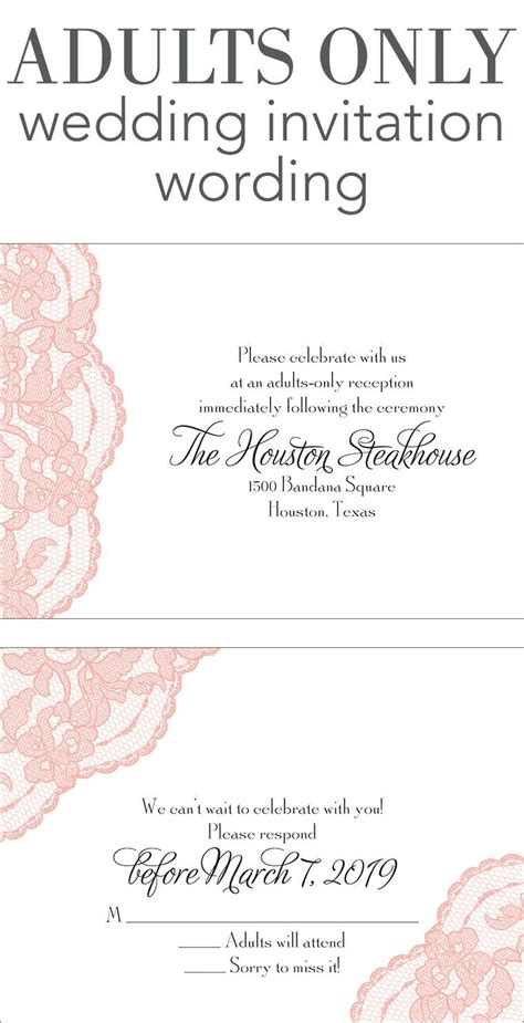 how to word a wedding invitation with no dinner adults only wedding invitation wording wedding help