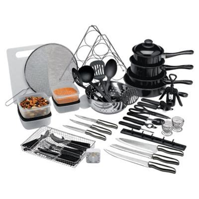 buy 50 piece steel and non stick kitchen starter set from