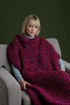 crochet snuggle  throw  sleeves ill