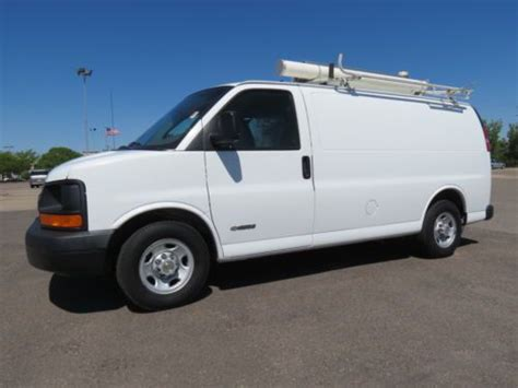 how to fix cars 2003 chevrolet express 2500 head up display buy used 2003 chevrolet express 2500 cargo van 7kw generator compressor low mileage 6 0v8 in