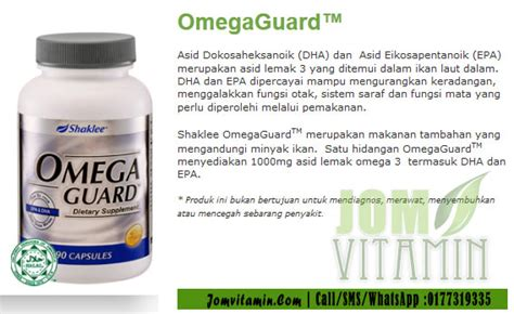 Vitamin Omega Guard kelebihan dan kebaikan omega guard shaklee