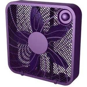 colored box fans 20 quot box fan in purple color new ebay