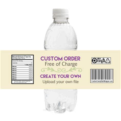 water bottle label design your own custom create your own water bottle labels announce it
