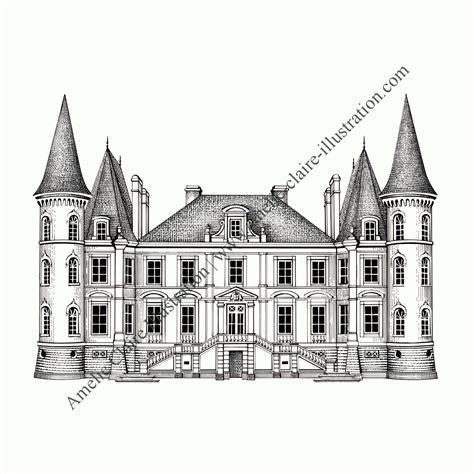 Ch 226 Teau Deux Tours Amelie Claire Illustration Traditionnelle