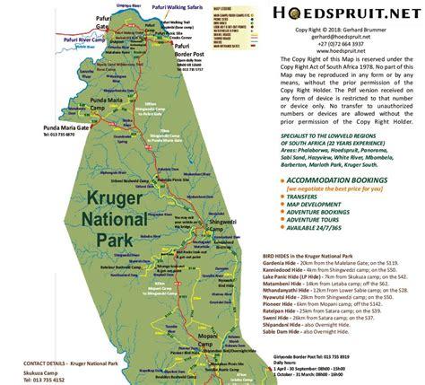 kruger national park map kruger national park map hoedspruit net