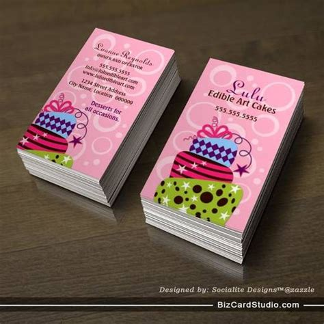 Cake Design Business Card Template by Cake Bakery Business Cards Bakery Business Cards