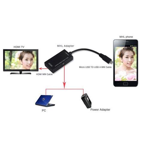 Usb Ke Hdmi adapter micro usb ke hdmi mhl01 black