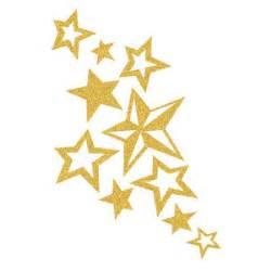skin sugar glitter gold star cluster temporary tattoo
