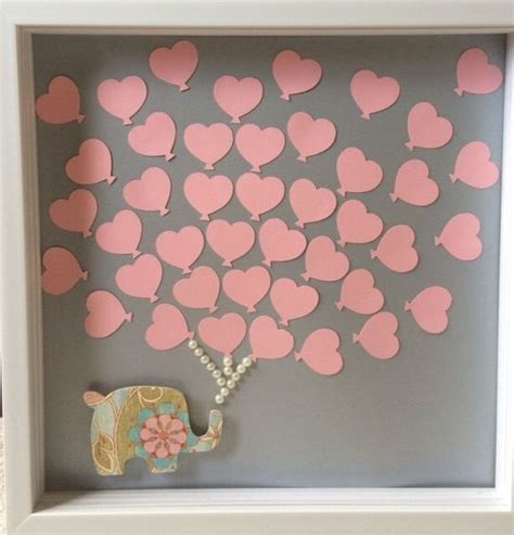 Baby Shower Guestbook by Baby Shower Guest Book Alternative Baby Elephant