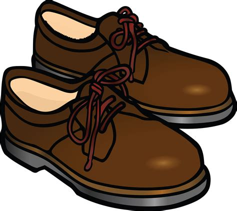 Shoe Clip free clipart of a pair of mens shoes