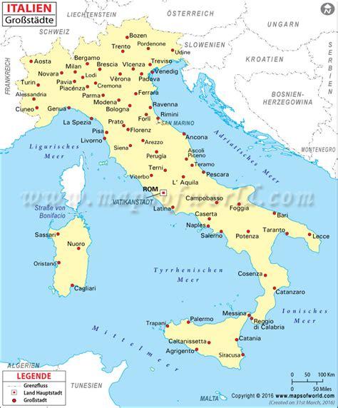Karte Deutschland Italien by St 228 Dte In Italien Italien St 228 Dte Karte