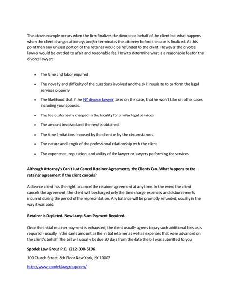 Divorce Retainer Letter new york divorce advanced retainer