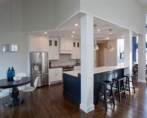 Open Kitchen With Columns by Kitchen Columns Houzz