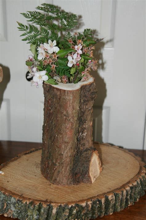 vase decoration tree stump vases for room decorating room decorating