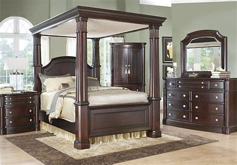 dumont bedroom set dumont cherry king bedroom collection roomstogo for the