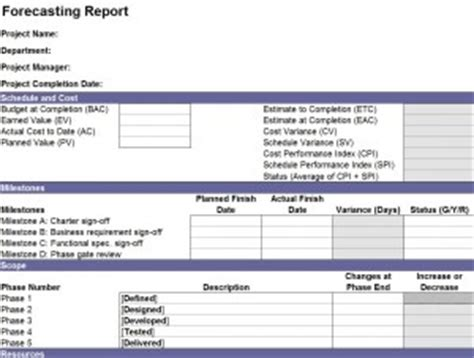 cost of sales template financial report template financial reporting and analysis
