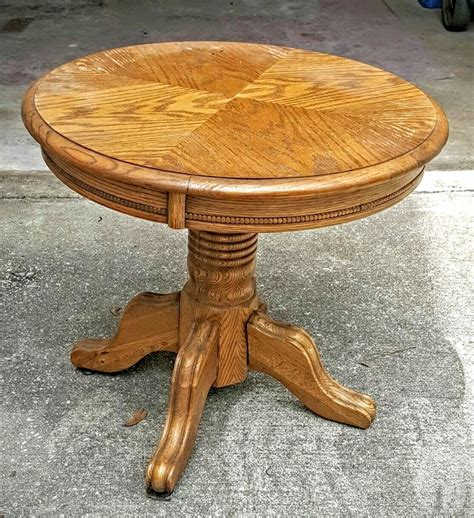 oak accent tables solid oak round end table refinished in annie sloan