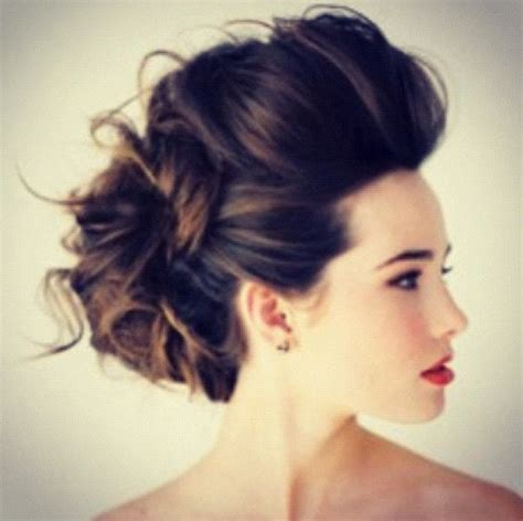 the voluminous updo wedding hairstyle for thin hair updo pompadour and wedding on pinterest