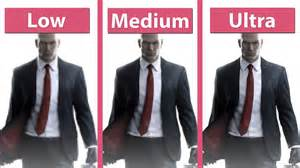 hitman 2016 beta pc medium ultra detailed graphics comparison