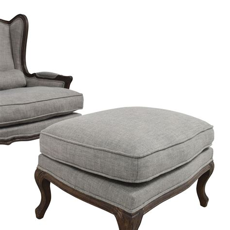 gray chair and ottoman 71 off restoration hardware restoration hardware grey