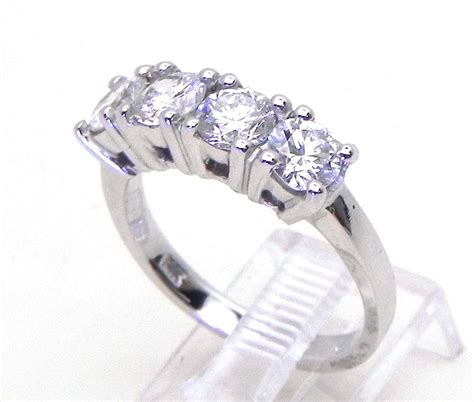 14k white gold 1 50 cts 4 band ring