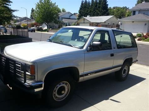 manual cars for sale 1992 chevrolet s10 blazer interior lighting purchase used 1992 chevrolet blazer cheyenne sport utility 2 door 5 7l in vacaville california