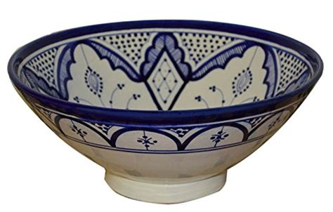 10 inch ceramic bowl ceramic bowls moroccan handmade serving bowl blue fez