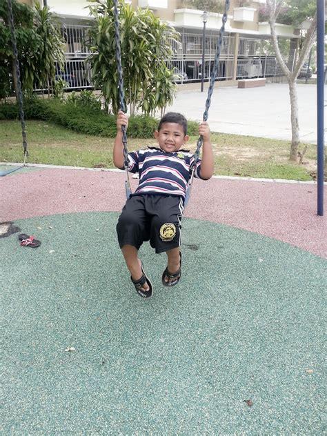 Sofa Buah Anak adieyza aktiviti riadah cuti sekolah bersama anak buah