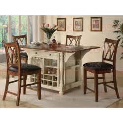 Island Kitchen Chairs Buttermilk And Cherry Kitchen Island And Chairs Set