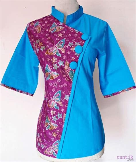 Limited Zakia Blouse Batik Kombinasi Murah model baju batik wanita modern aiko 07 daniyanti