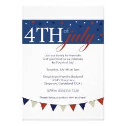 white 4th of july invitation zazzle